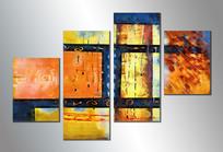 色块抽象油画装饰画