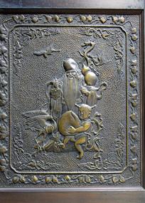 寿星人物浮雕装饰