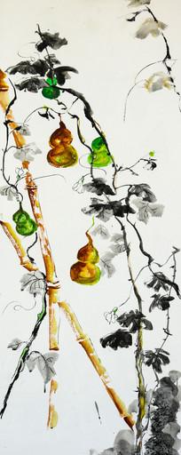 水彩画-葫芦