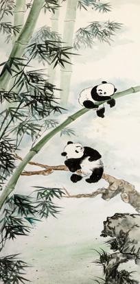 熊猫仔摸自己的脸图片,高清大图_陆地动物素材_编号