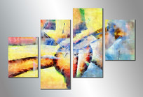四拼抽象油画