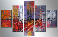 五联装饰画