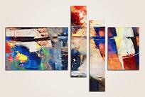 现代色块抽象油画