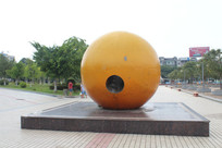 陈毅广场脐橙标志