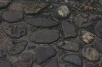鹅卵石地面