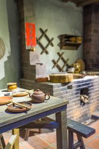 惠州博物馆的客家人餐桌