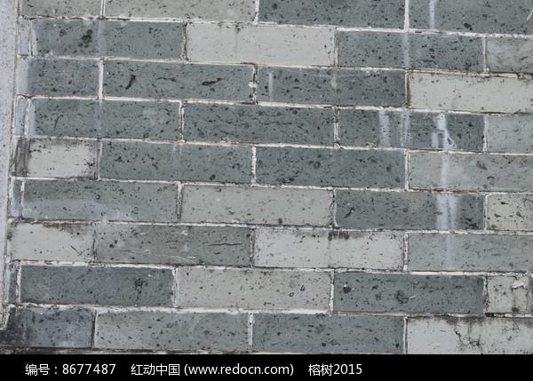 青砖墙背景图图片