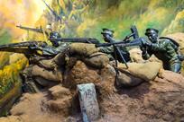 中国士兵在佛子坳打仗雕塑