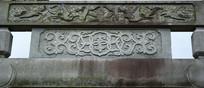 石牌楼上的石雕花纹