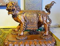 雄狮铜像工艺品雕塑