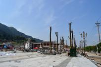 建设中的黎平南泉山文化广场