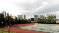 校园运动场跑道