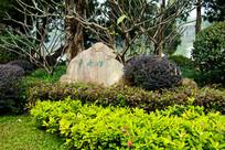 广州流花湖公园烟雨亭碑石