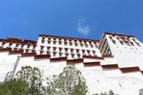 西藏布达拉宫外墙
