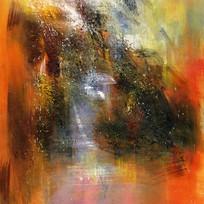 装饰画 抽象油画