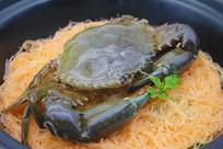 干捞青蟹粉丝煲