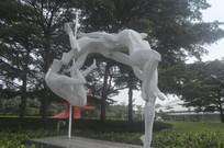 广州体育馆门前雕塑
