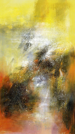 极简风格装饰画抽象油画