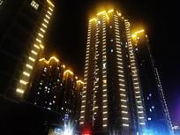 清镇市红树东方楼盘亮化照片