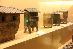 汉代各种粮仓土陶模型
