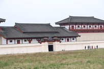 汉景帝陵大门左侧