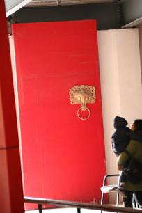汉景帝陵兽首铜扣大门