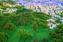 惠州城市山丘沙盘模型