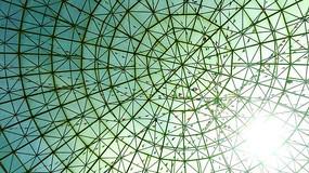 建筑楼顶玻璃艺术造型