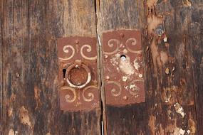 旧木门门把手