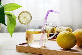 柠檬茶摄影图片