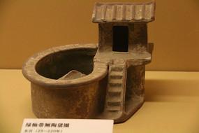 土陶古代粮仓仓房模型