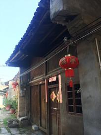 桂林大圩古镇古房子红灯笼