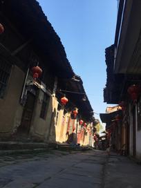 桂林大圩古镇古建筑街道
