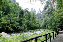 峡谷小过道小溪