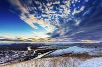 额尔古纳湿地秋季的天空