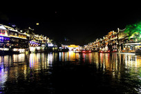 凤凰城沱江夜景
