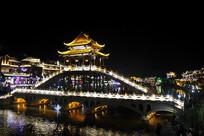 凤凰城夜景吊脚楼
