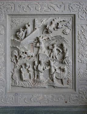 古代人物故事浮雕石刻