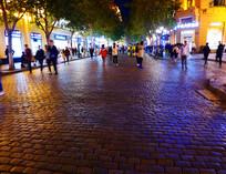 哈尔滨中央大街夜景