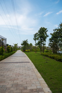 惠州红楼滩公园的道路