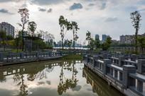 惠州红楼滩公园的湖泊