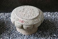 清代花纹石雕基座