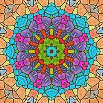 染色玻璃UV喷印