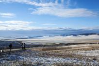 白雪覆盖的麦田