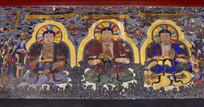 成都文殊院古老巨幅佛像壁画