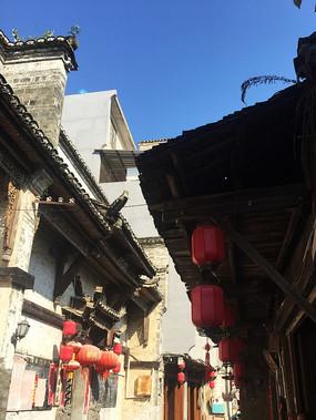 桂林大圩古镇古街上