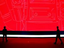 红色背景板