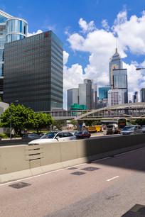 香港金钟道路景观