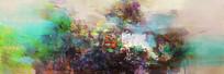 抽象写意山水风景画