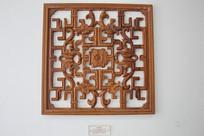 窗花木雕团龙图
